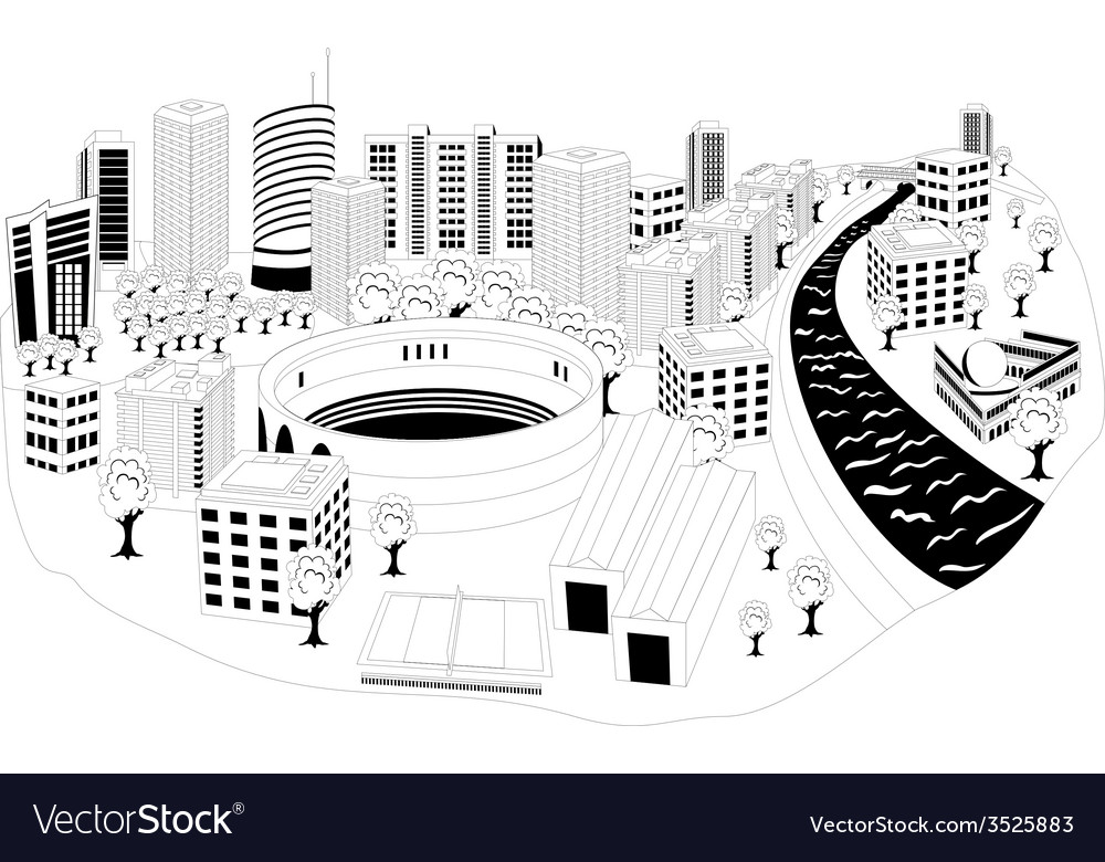 Modern city metropolis