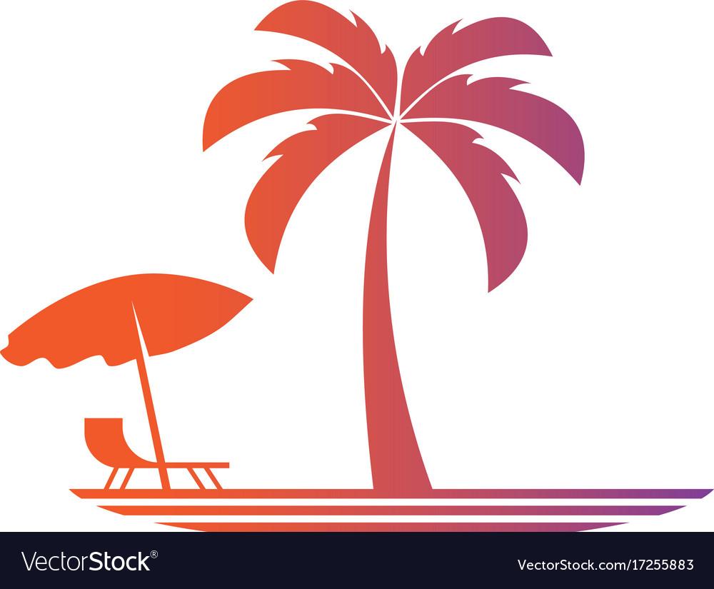 Palm travel lanscape logo