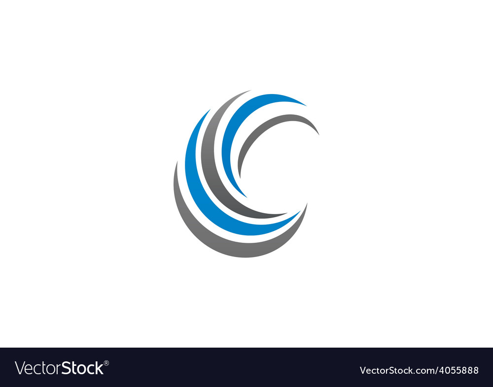 Circle swirl abstract business logo