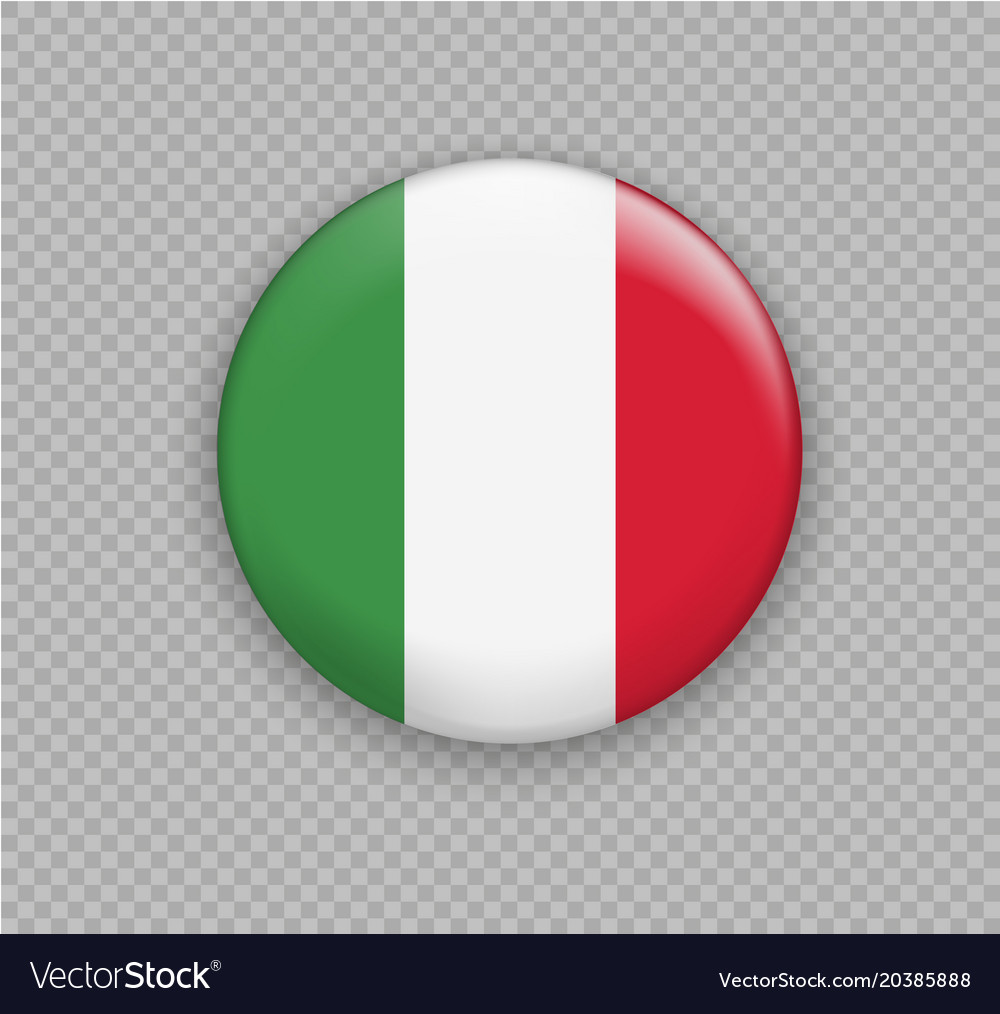 Flag of italy the right colors and proportions