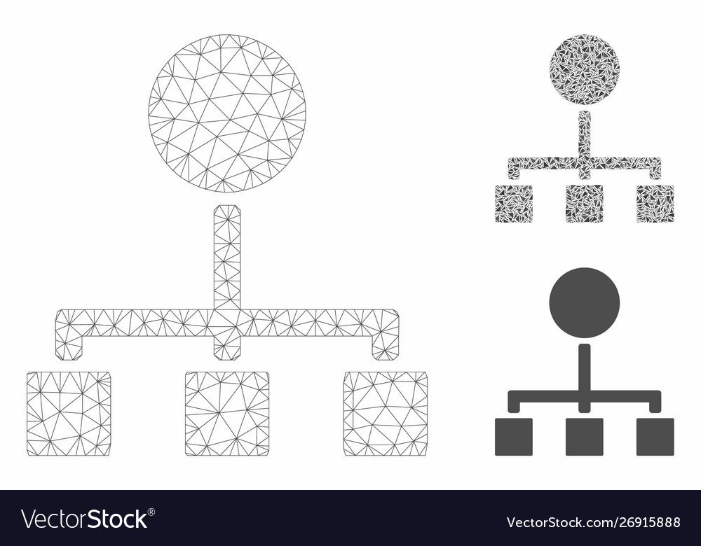 Hierarchy mesh wire frame model and