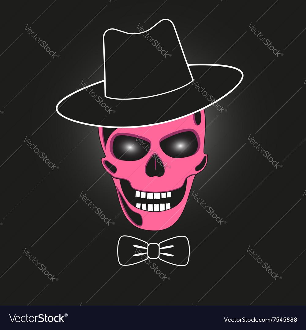 Pink skull in hat