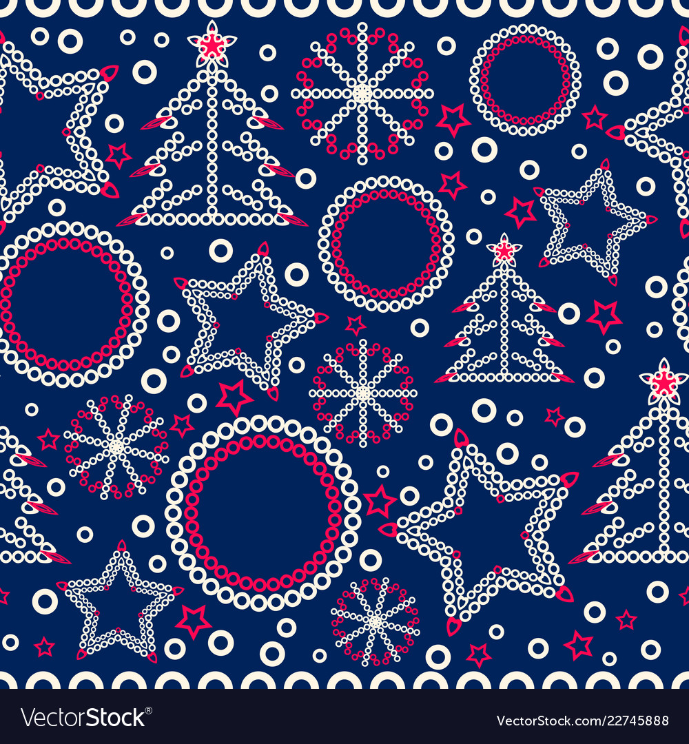 Seamless christmas ornamental decor pattern