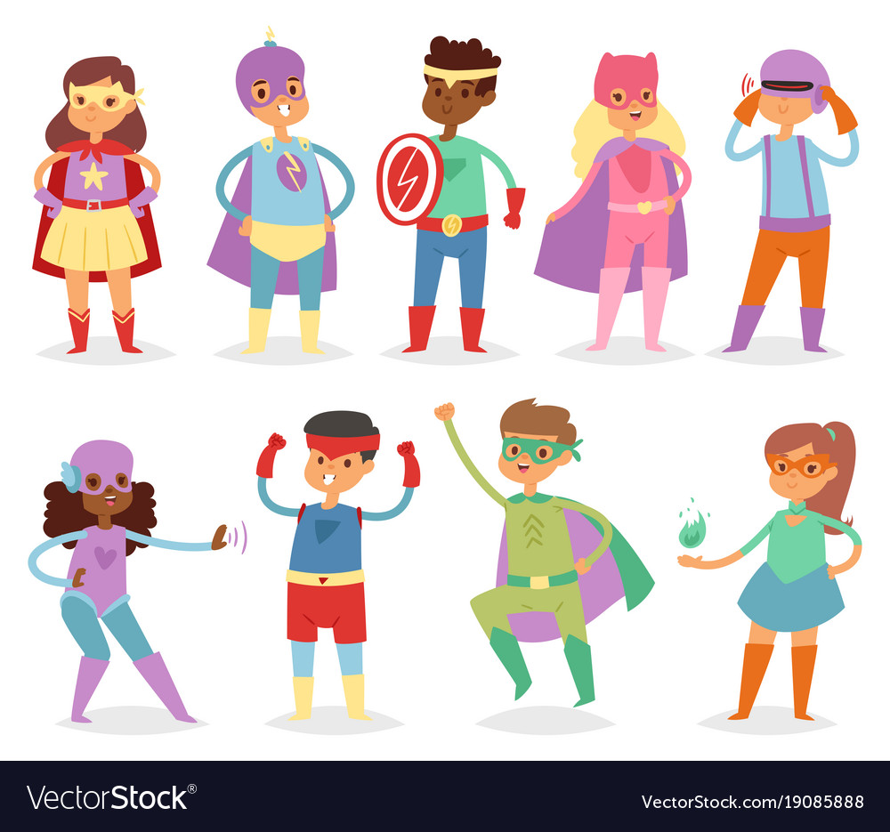Superhero kids super hero child or kid in
