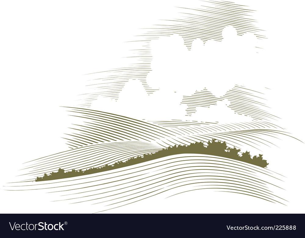Woodcut skyscraper vector image