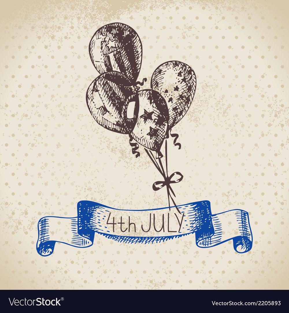 4th july vintage background