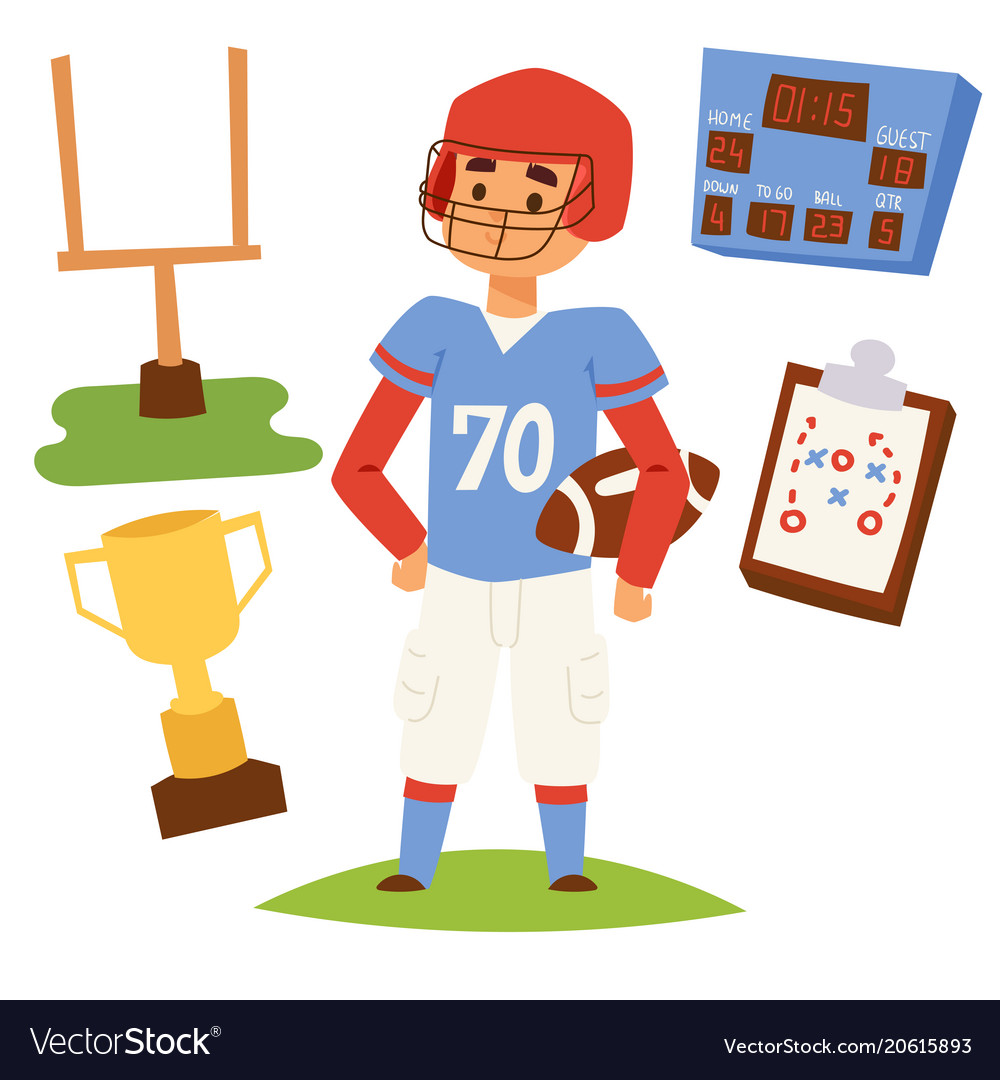 American football player action sport athlete