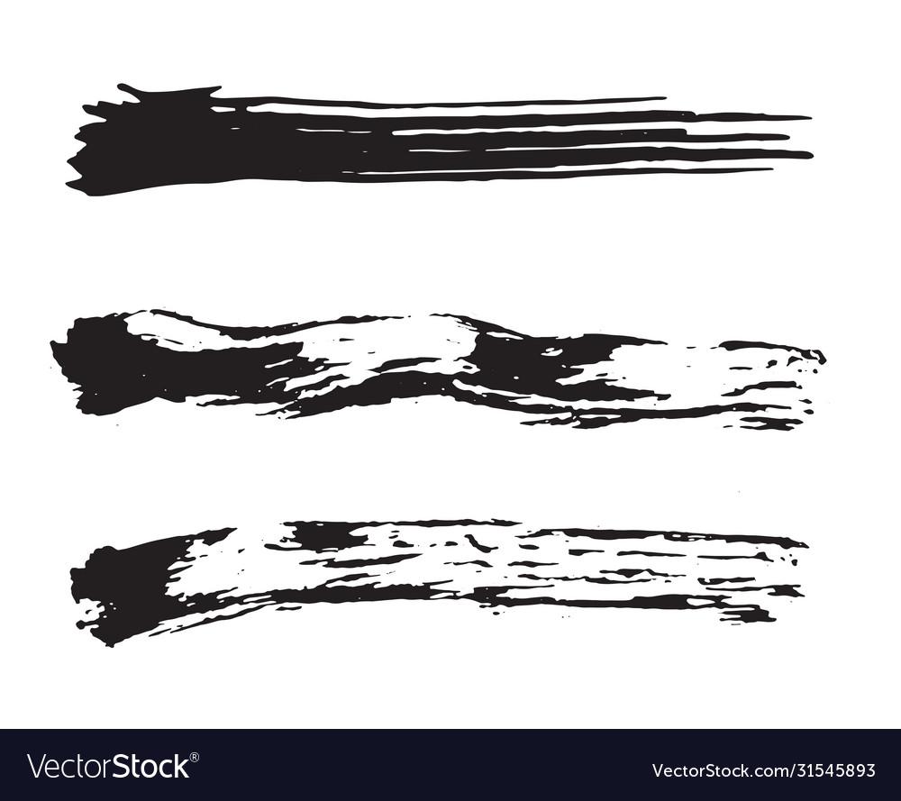 Black paint brush strokes