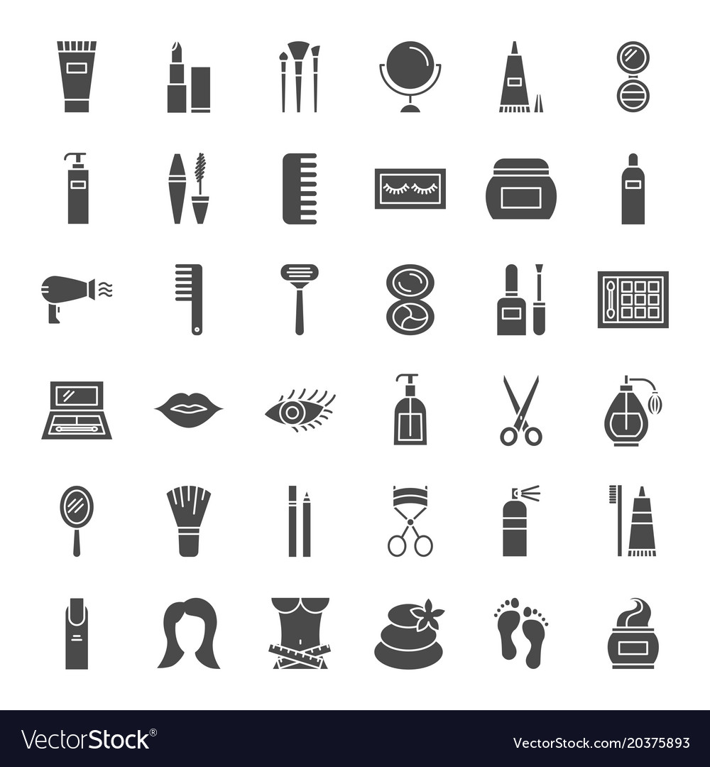 Cosmetics solid web icons