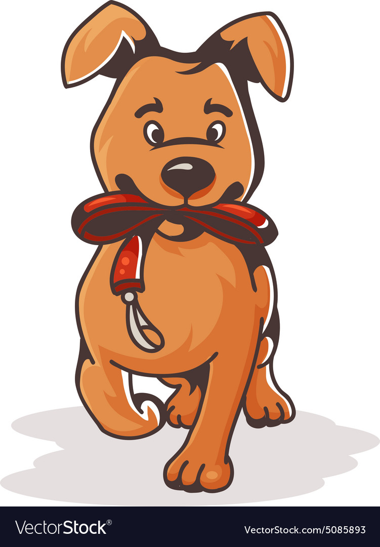 Dog with the collar vector image