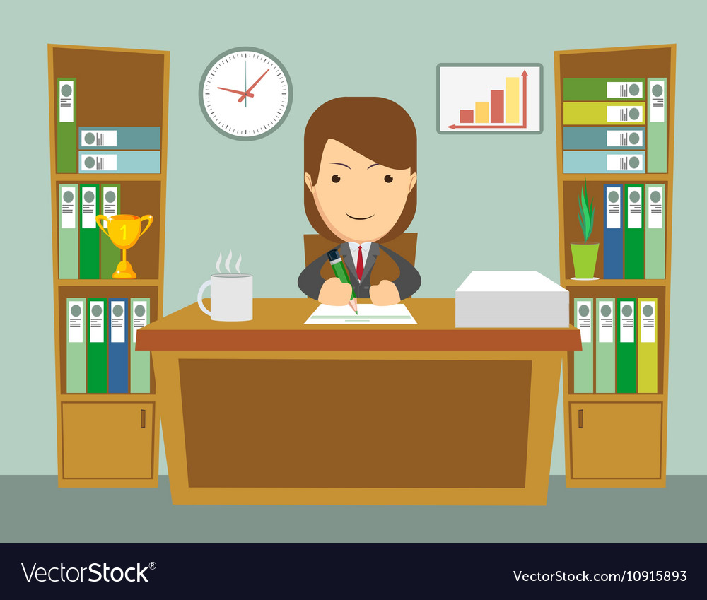 Office worker at work