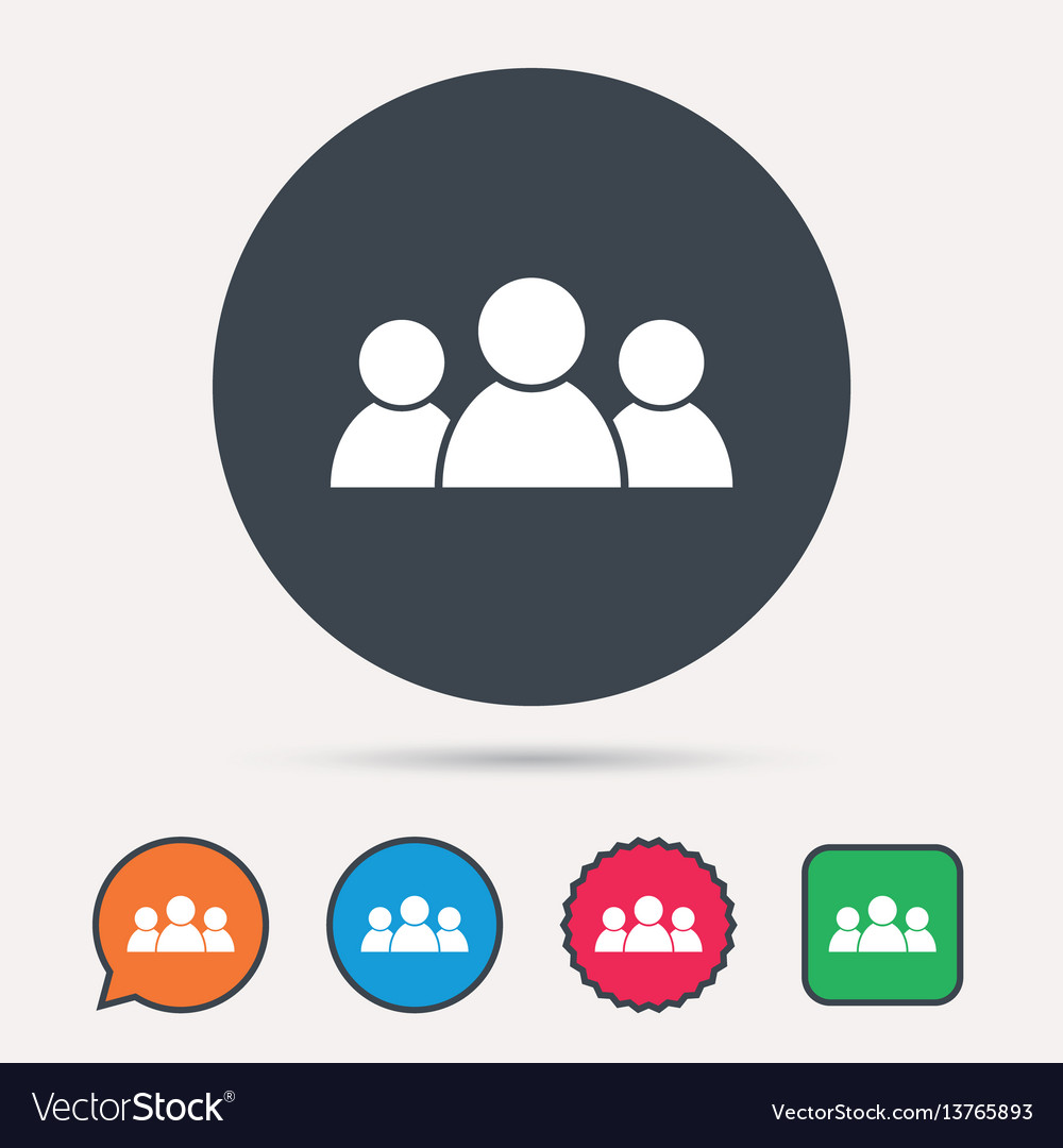 People icon group of humans sign vector image