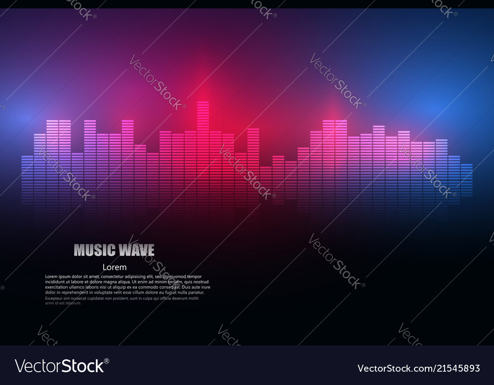 Sound waves oscillating glow light abstract