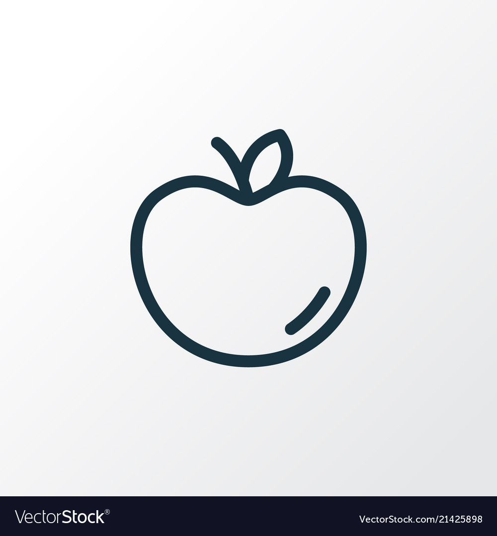Apple icon line symbol premium quality isolated