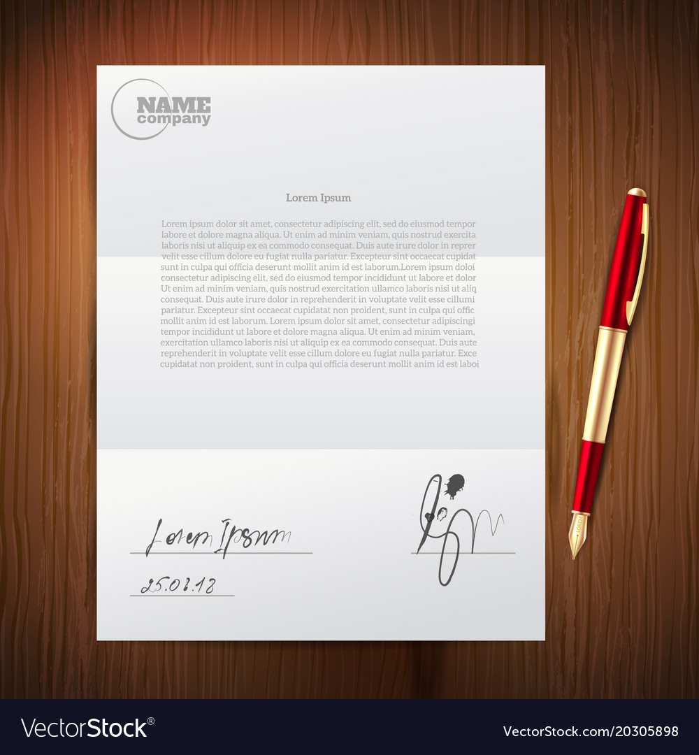 Business pen paper set vector image