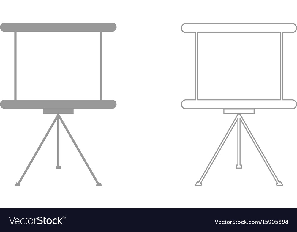 Business presentation board the grey set icon