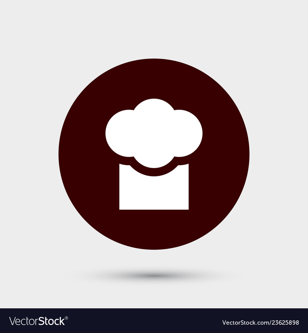 Chef cap icon simple food element