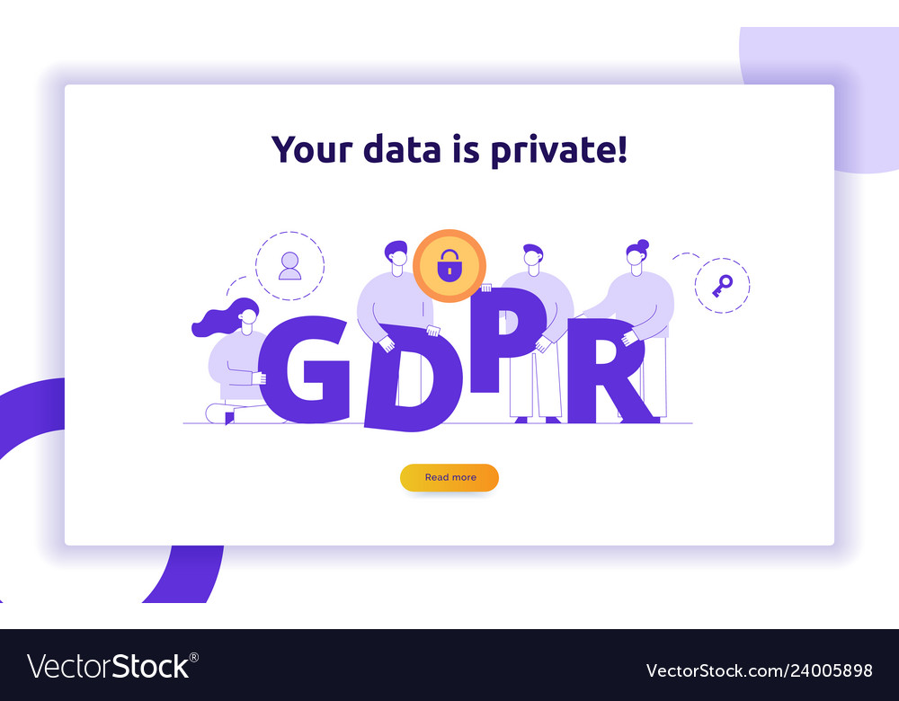 Gdpr concept with big modern people
