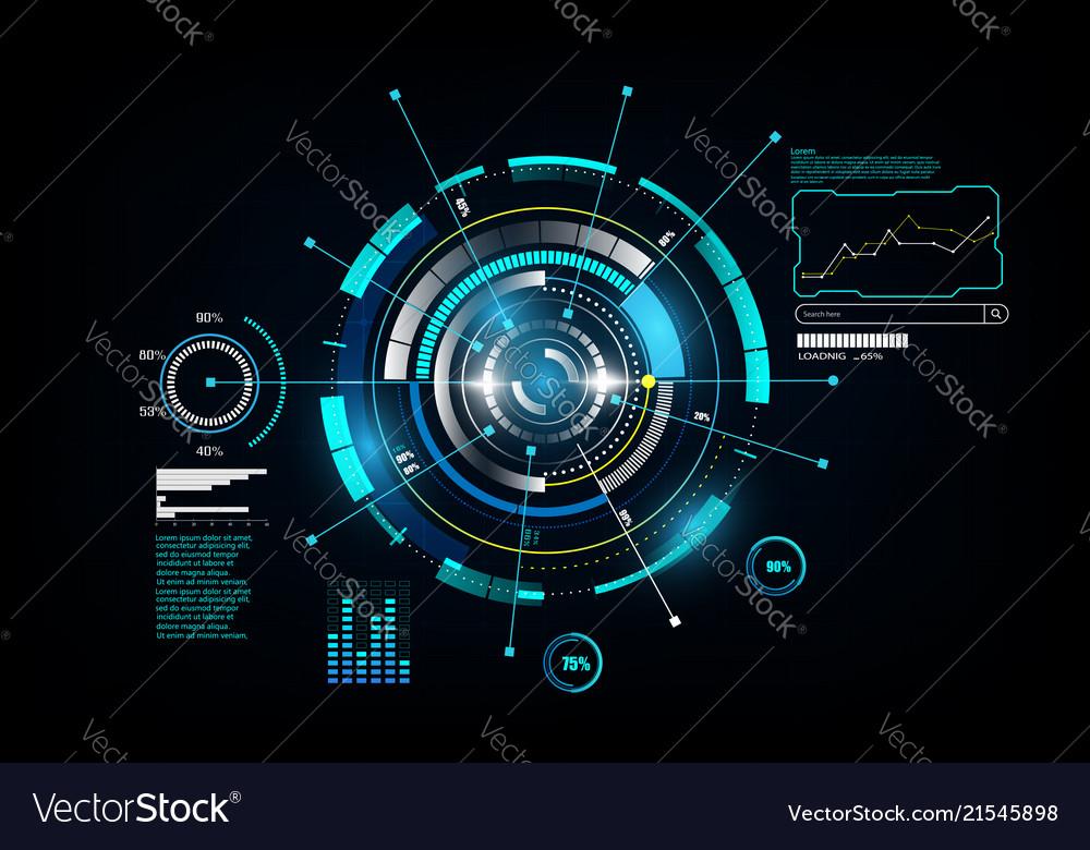 Hud interface gui futuristic technology