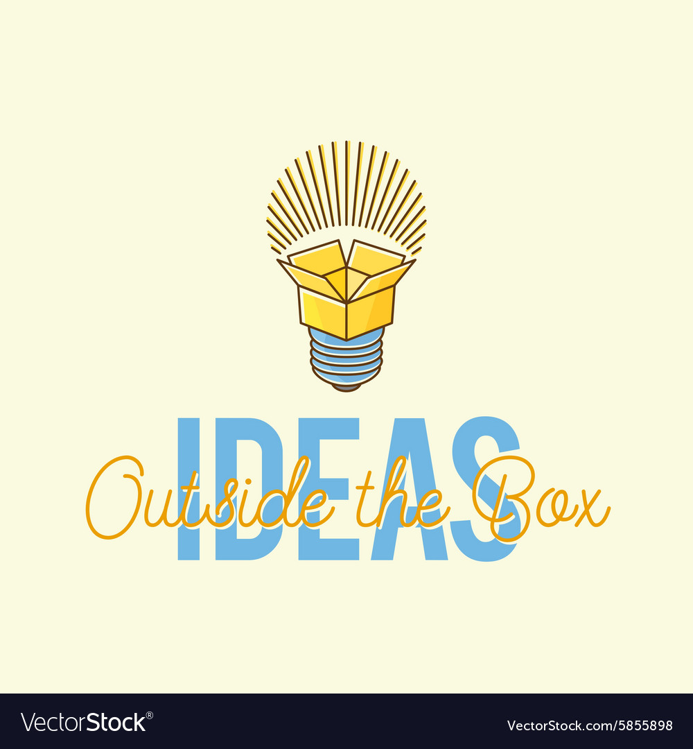 Ideas Outside The Box Abstract Concept Logo