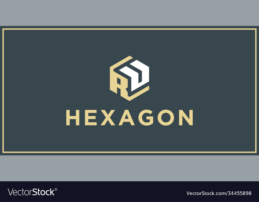 Ru hexagon logo design inspiration