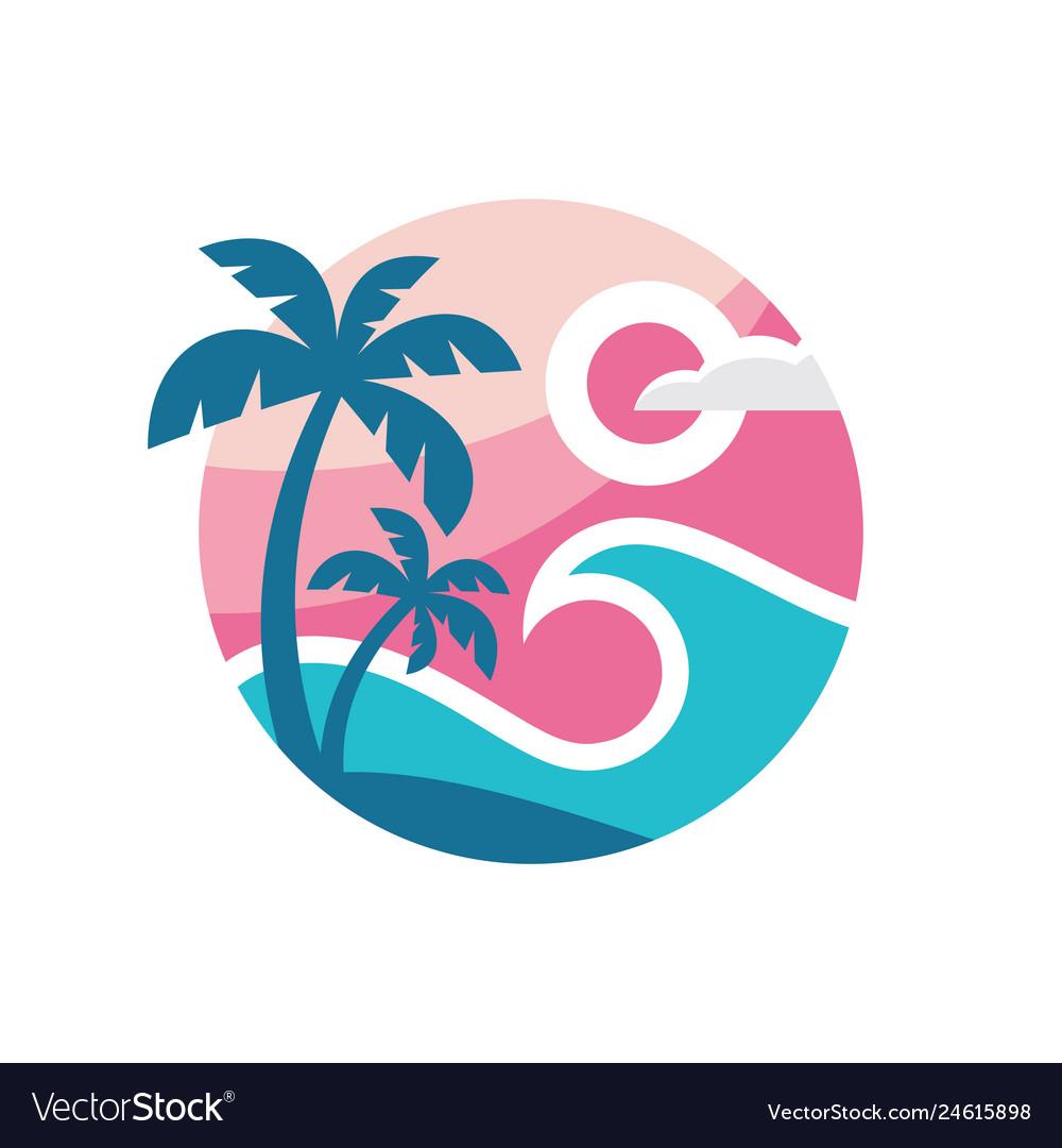 Summer travel - concept business logo template