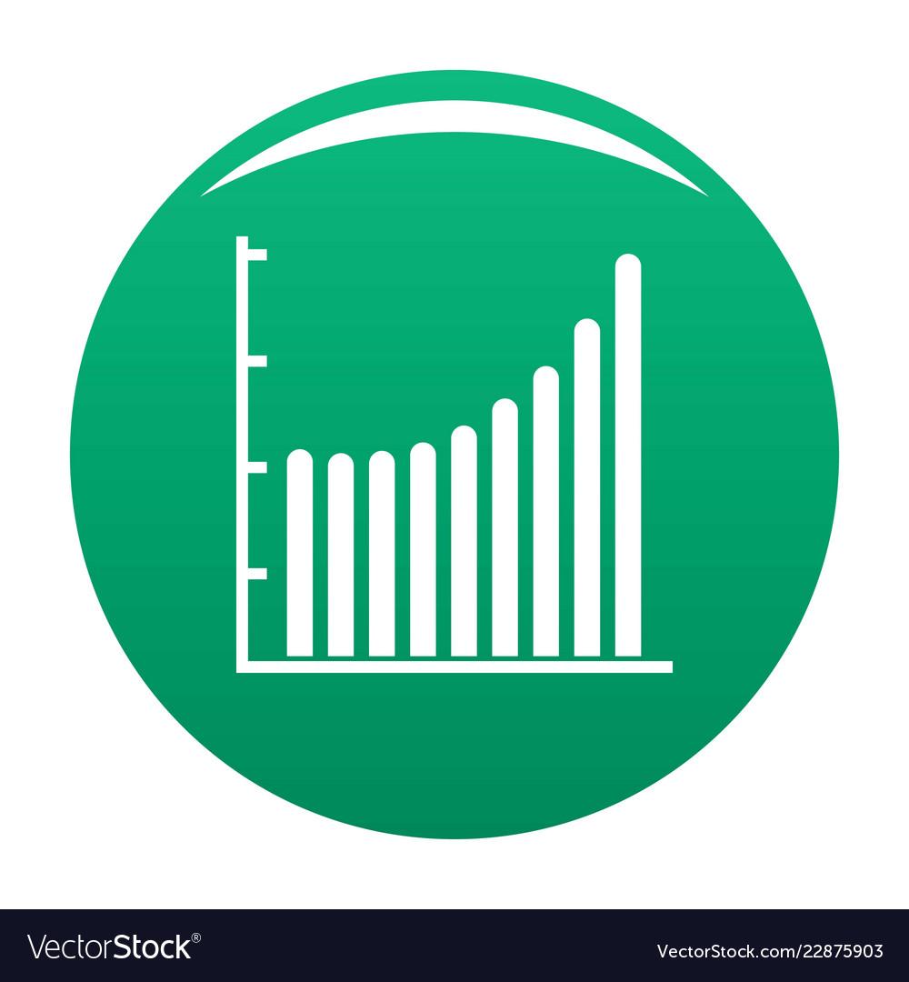 Business diagram icon green