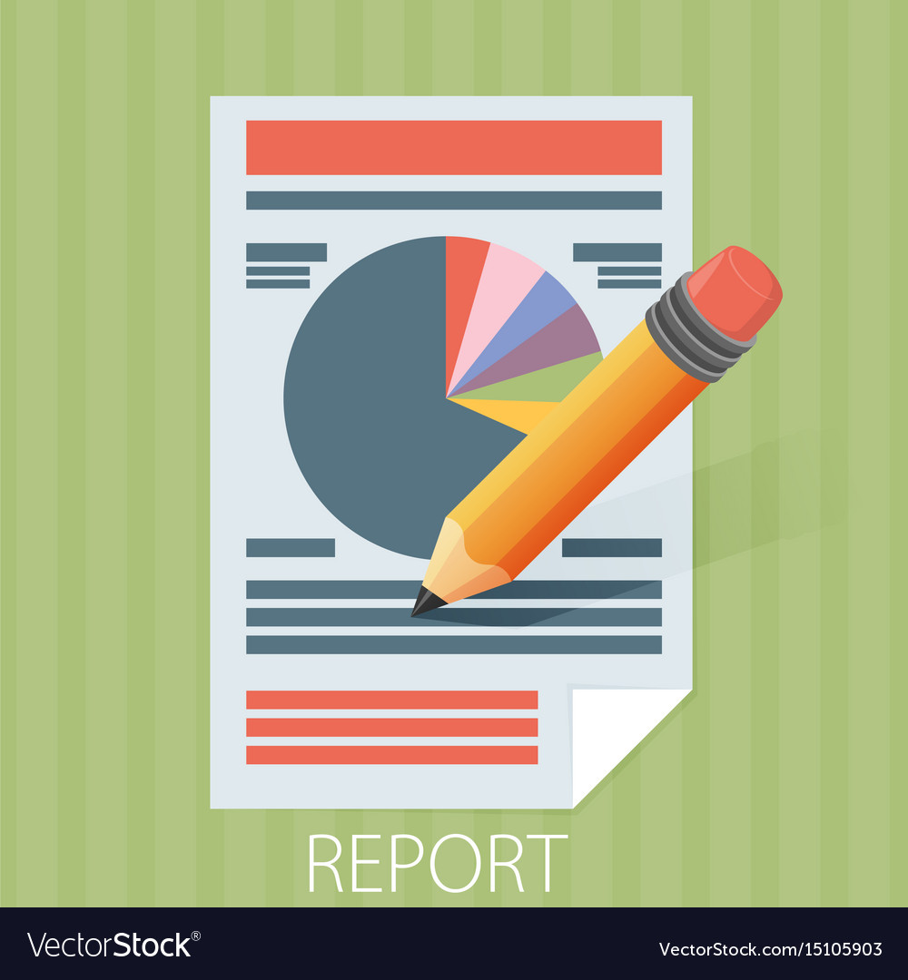 Business report paper modern flat style design