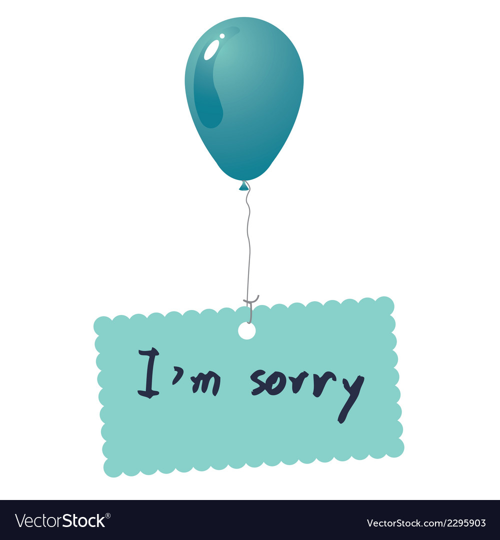 Im sorry card vector image