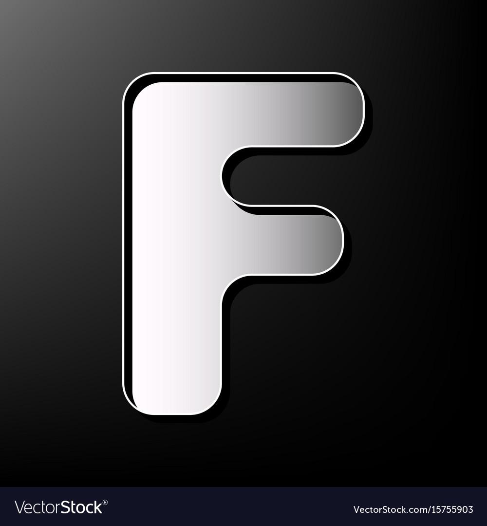 Letter f sign design template element