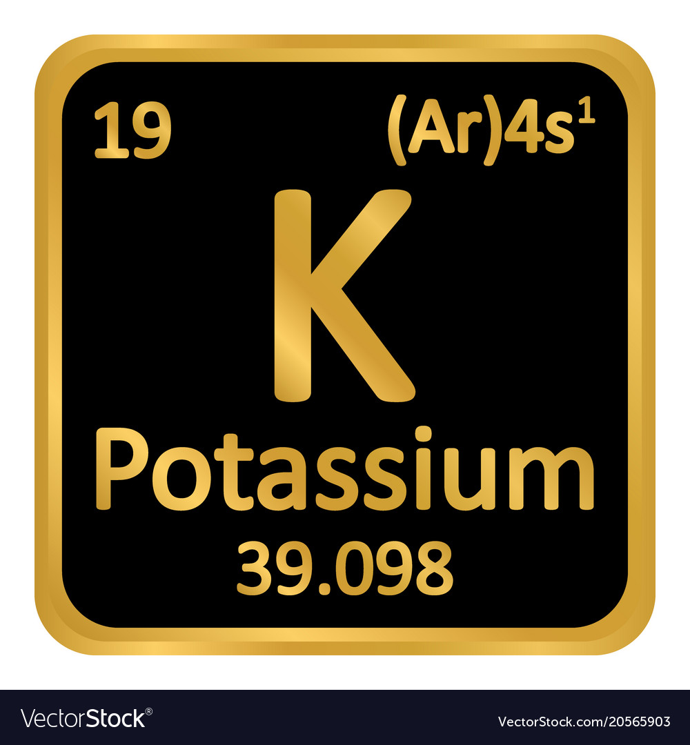 Periodic table element potassium icon royalty free vector periodic table element potassium icon vector image urtaz Image collections
