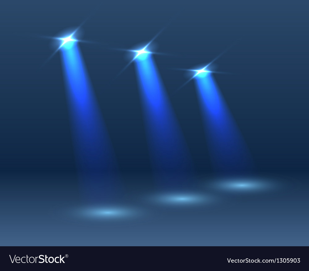Scene with lighting vector image