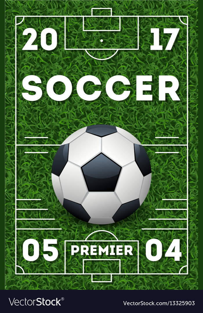soccer poster template royalty free vector image