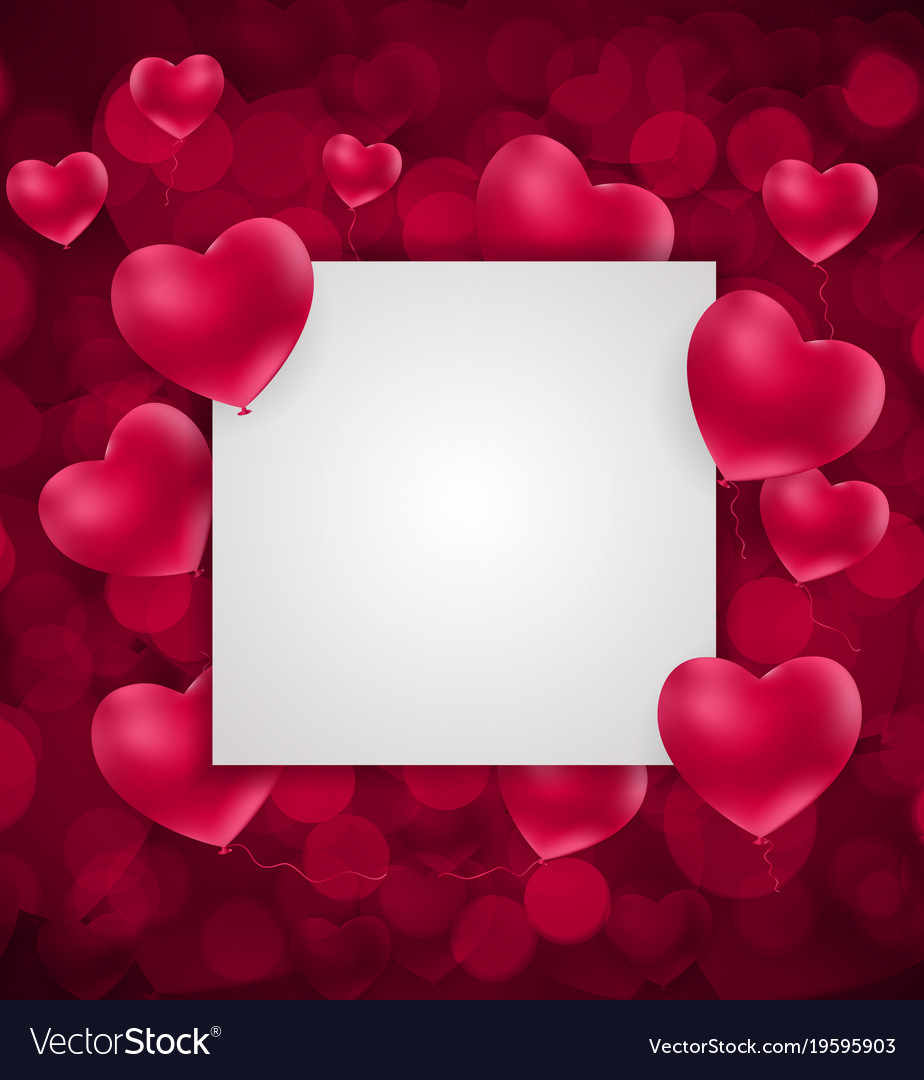 Valentine S Day Heart Love And Feelings Background