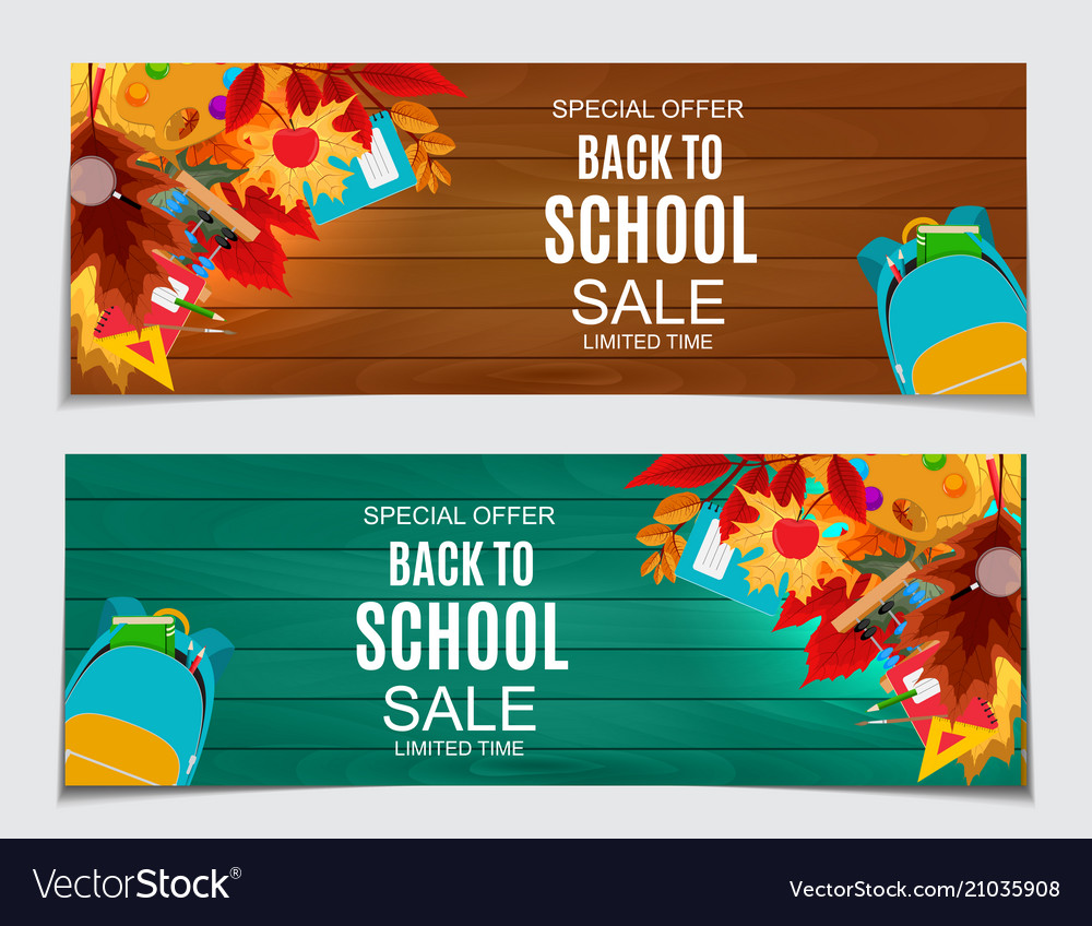 Abstract back to school sale