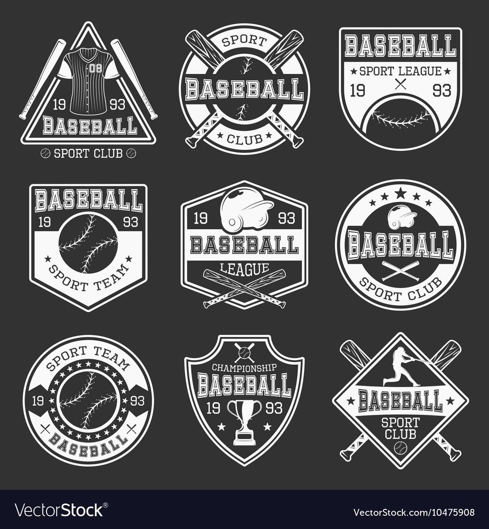Baseball Monochrome Logos