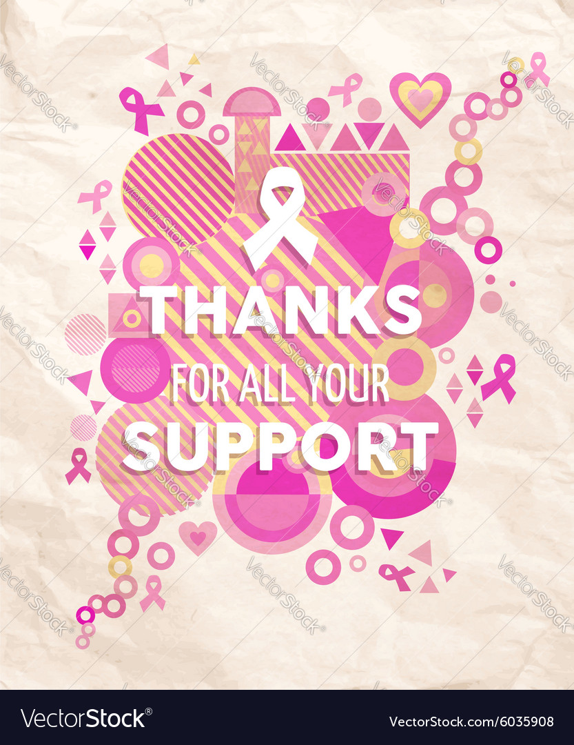Breast cancer awareness geometry support poster