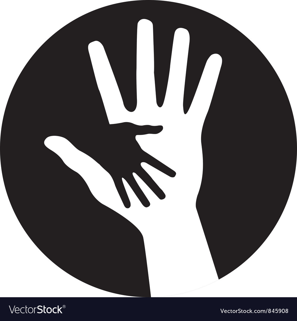 Caring hands icon vector image