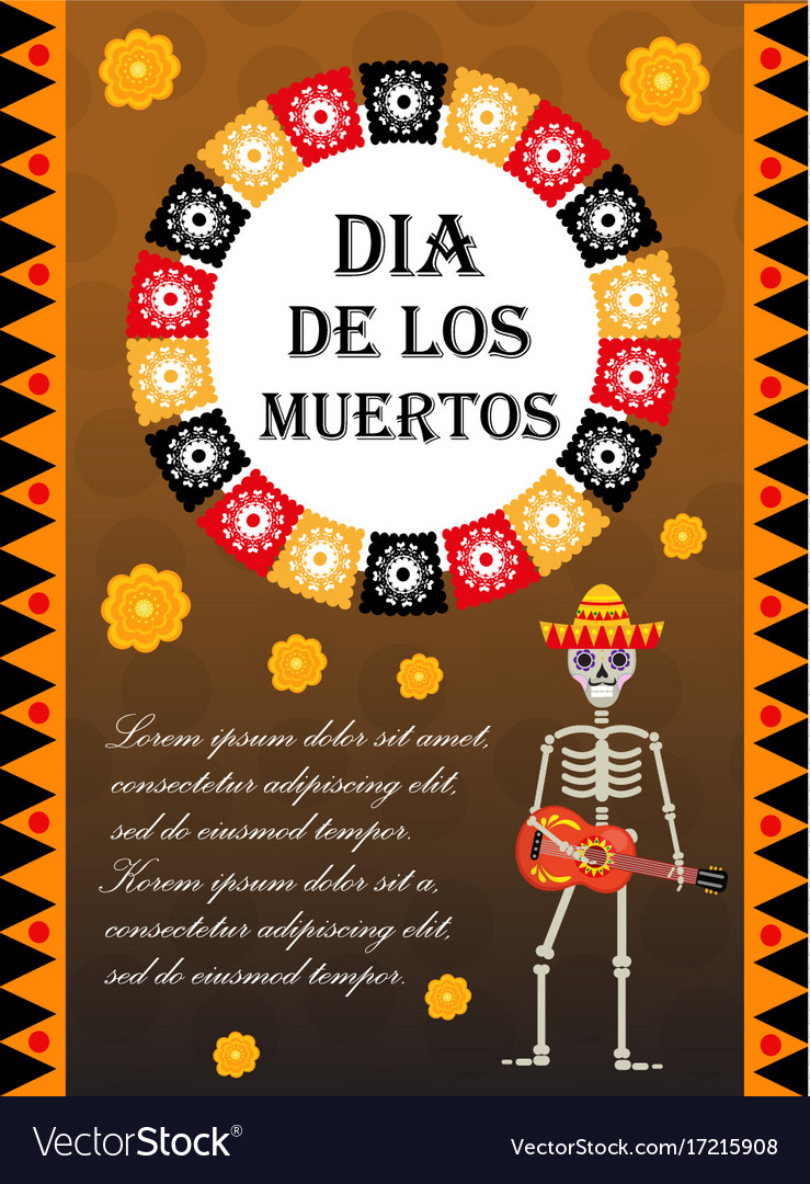 Day of the dead flyer poster invitation dia de