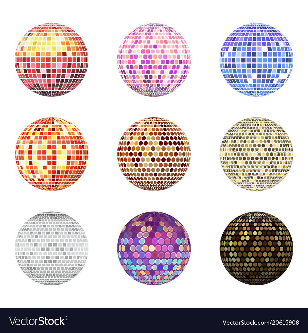 Disco ball discotheque music party night club
