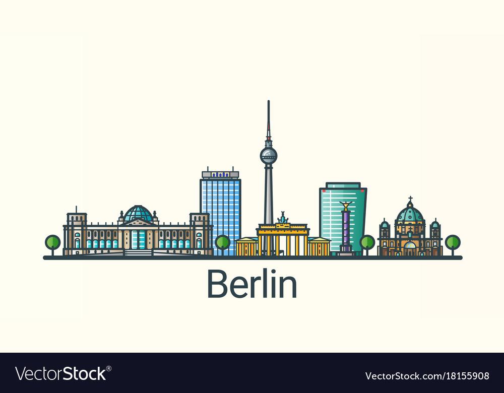 Flat line berlin banner