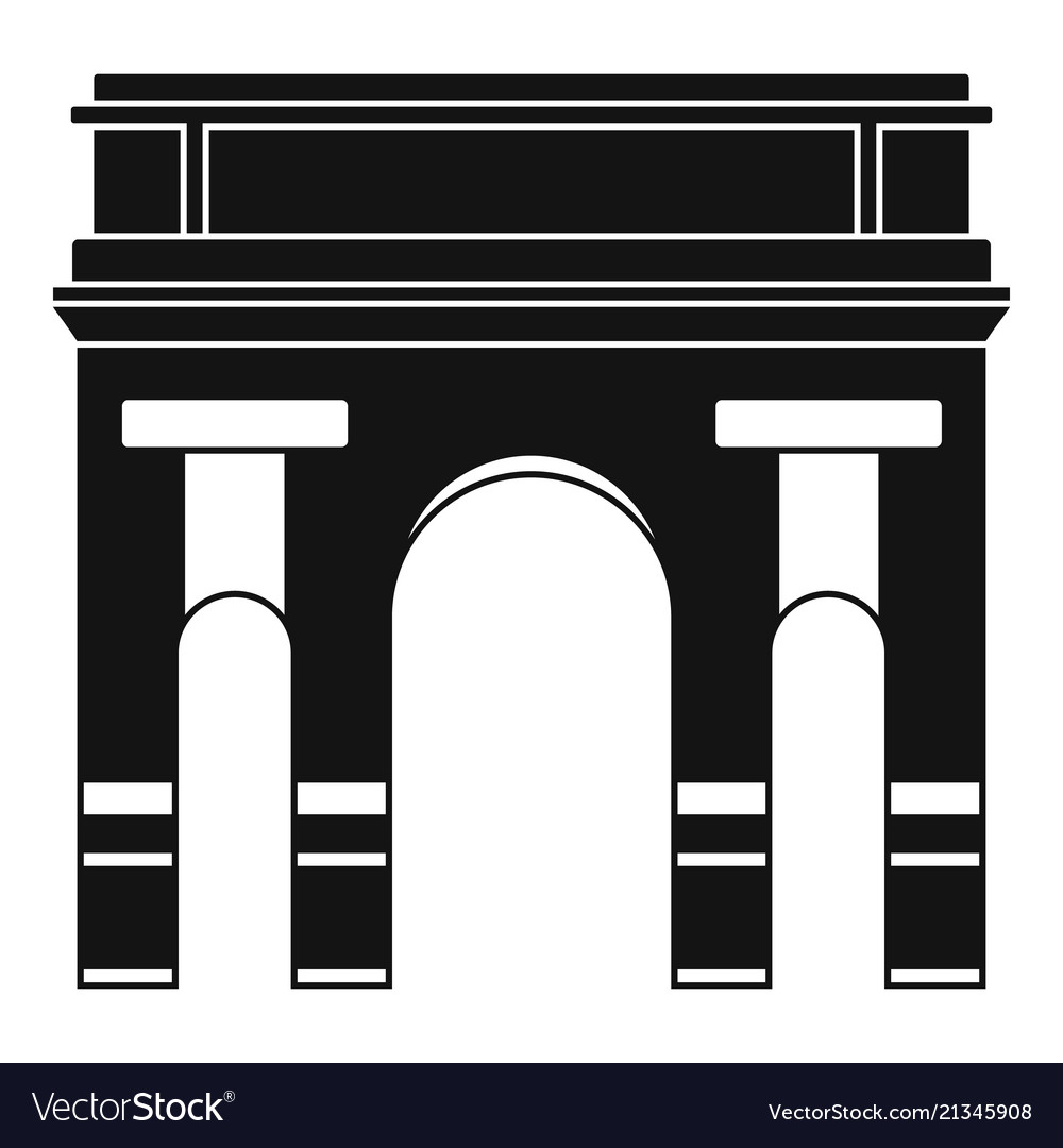 Historical arch icon simple style
