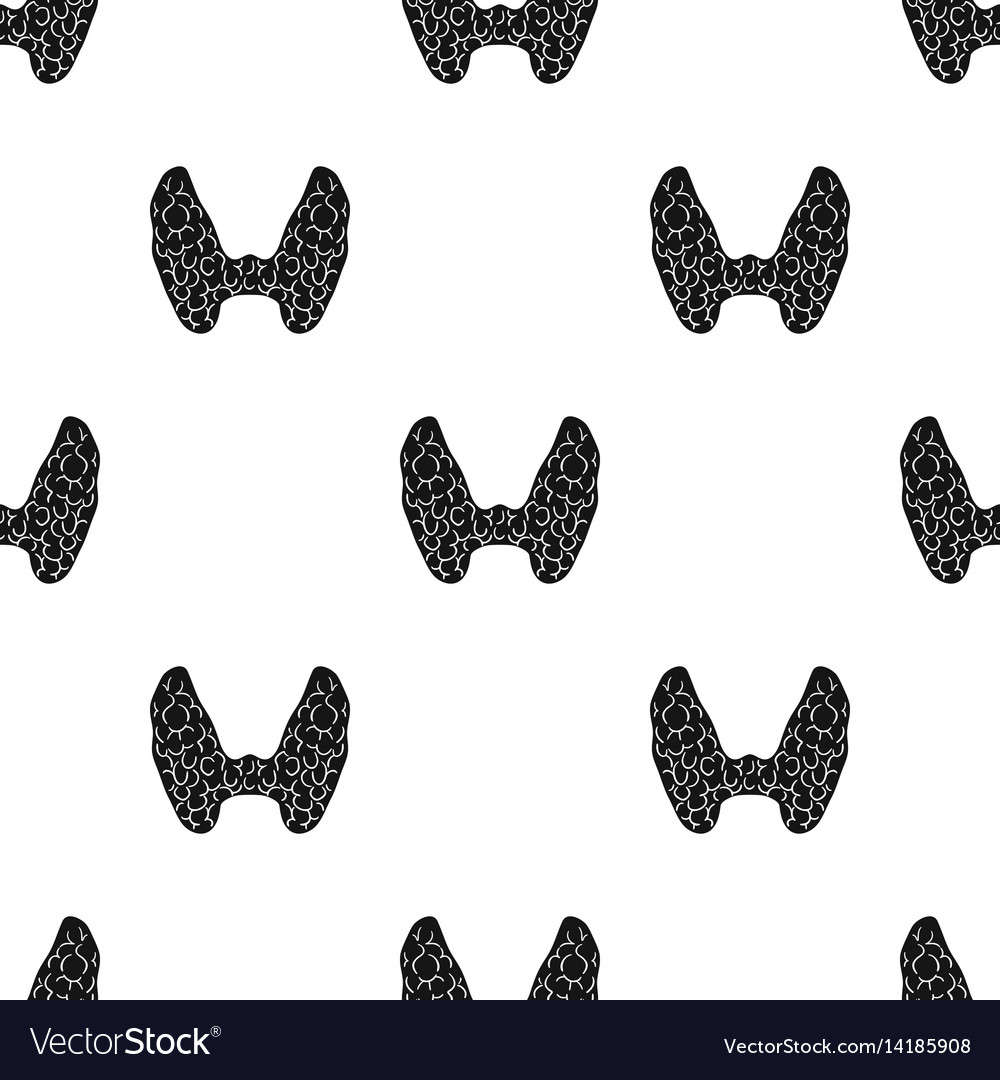Human thyroid icon in black style isolated on vector image