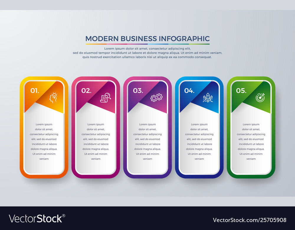 Infographic design with 5 step