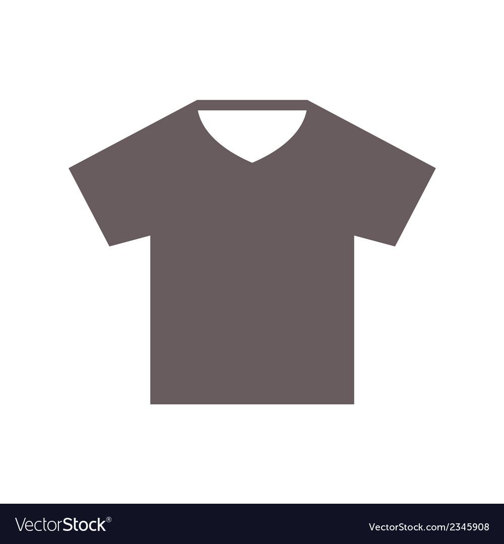 T-shirt Flat Style Icon on White Background