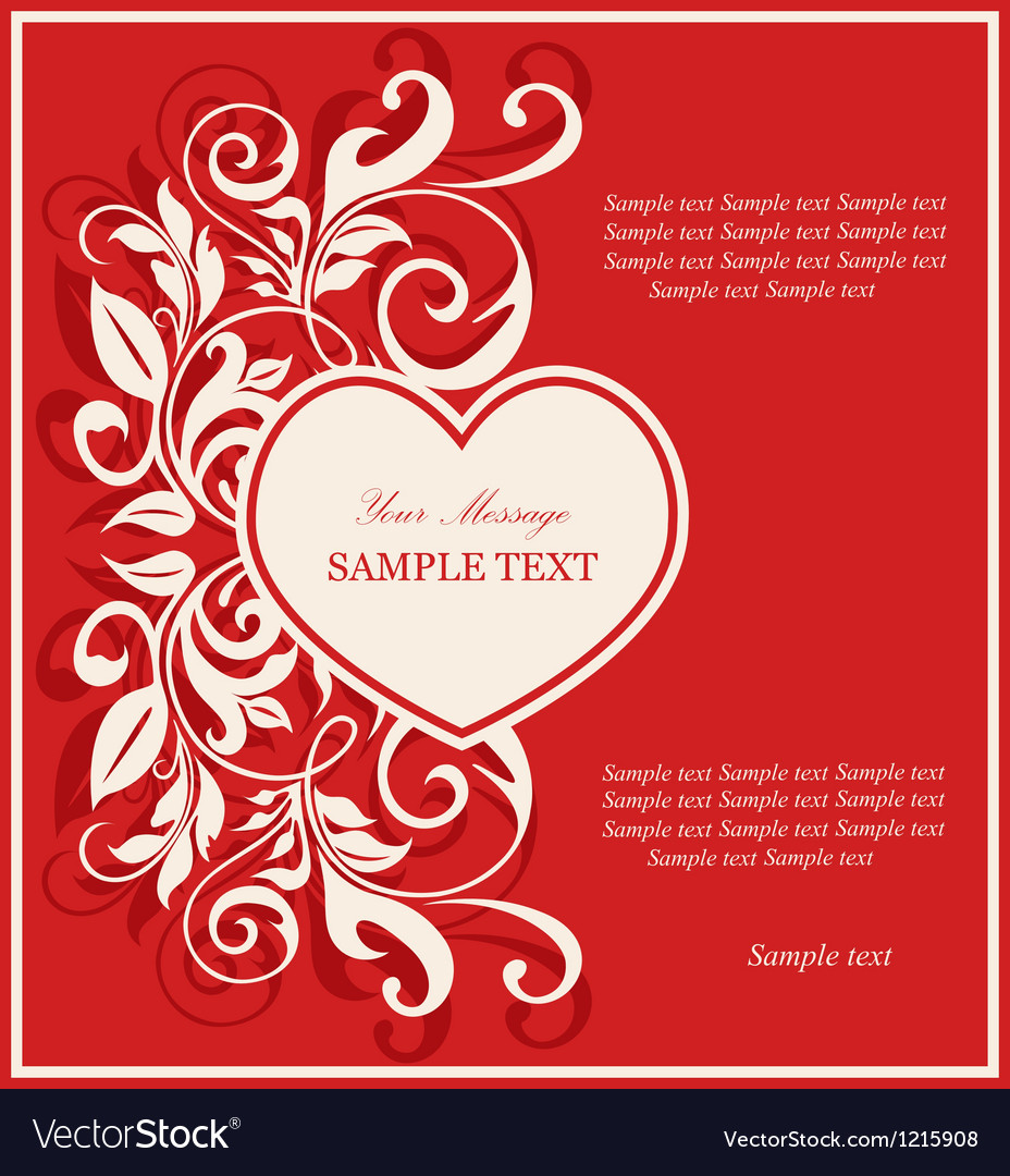 Valentine invitation card royalty free vector image valentine invitation card vector image stopboris Image collections
