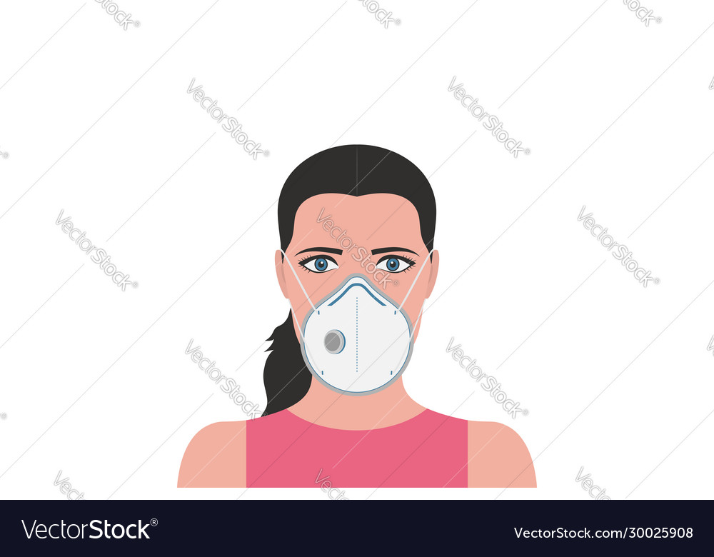 Woman in protection medical face mask