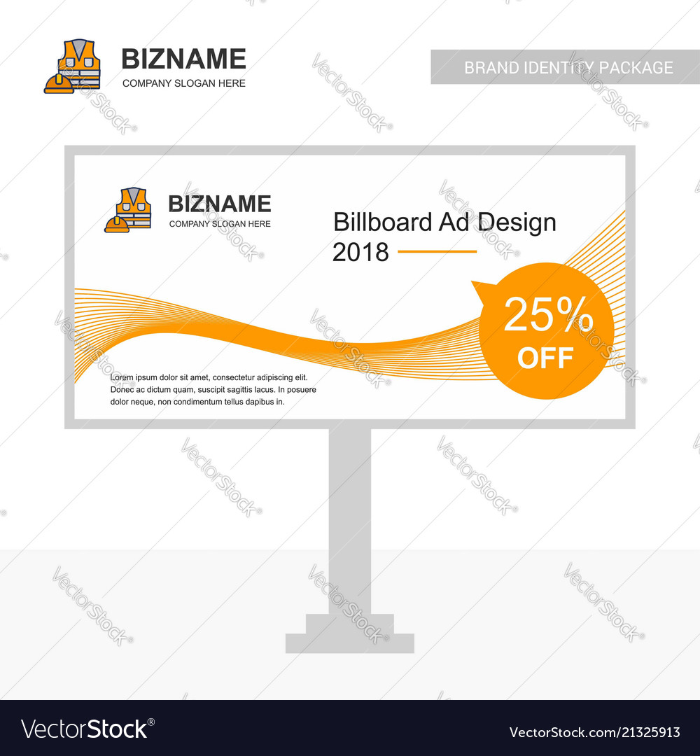 Business bill board design with labour jacket logo