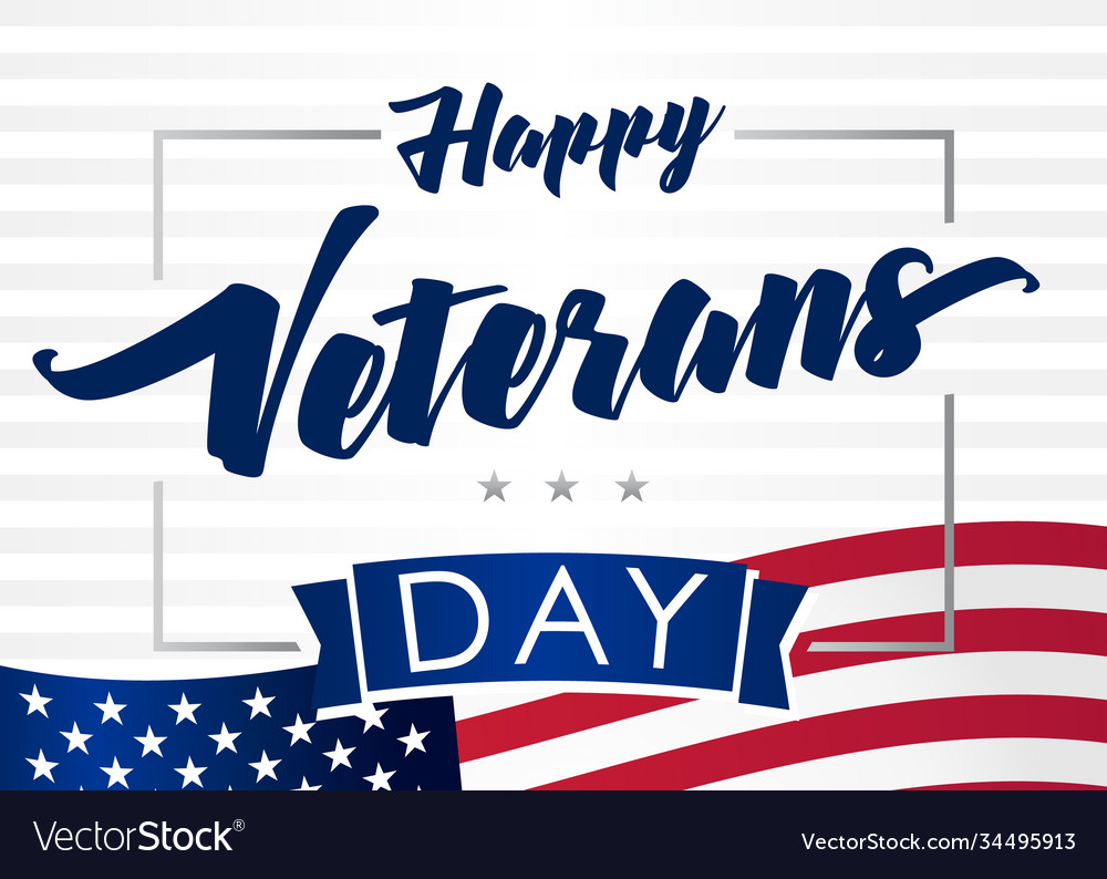 Happy veterans day 11 november banner