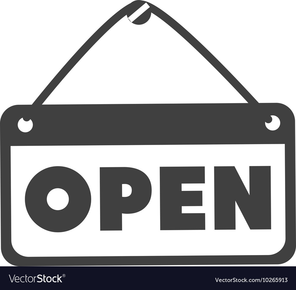 Open sign store